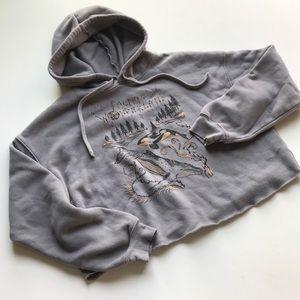 Pacific Northwest Wonderland Crop Sweatshirt